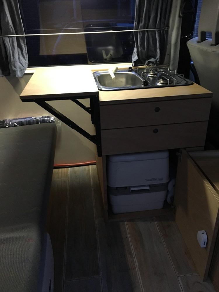 Keukenblok met toilet en klaptafel - Unit 11