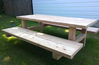 Maatwerk picknicktafel - robuust
