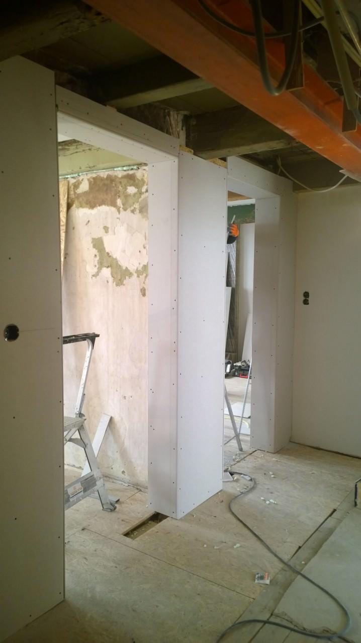 Woningrenovatie binnenstad Zwolle - Wandafwerking - Unit 11