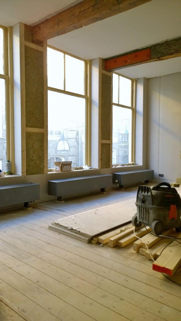 Woningrenovatie binnenstad Zwolle - vensterbanken en kozijnen